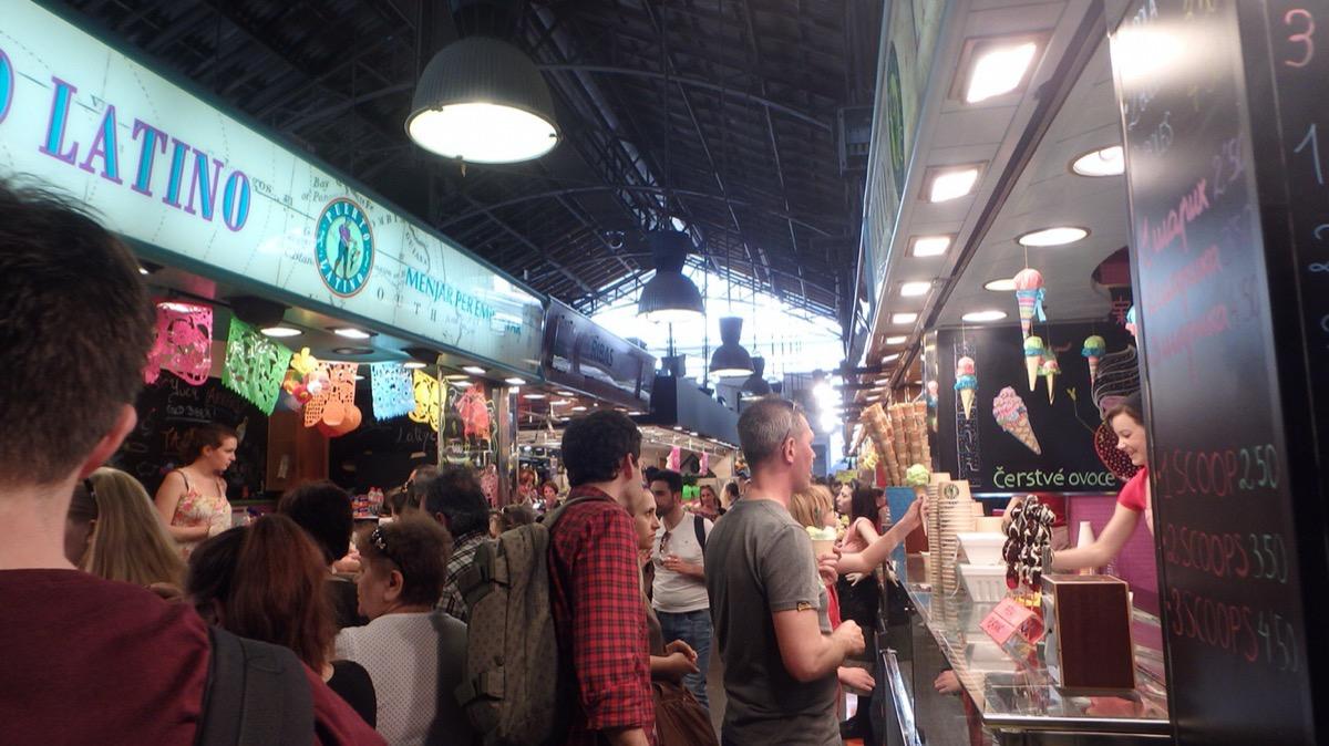 バルセロナの市場