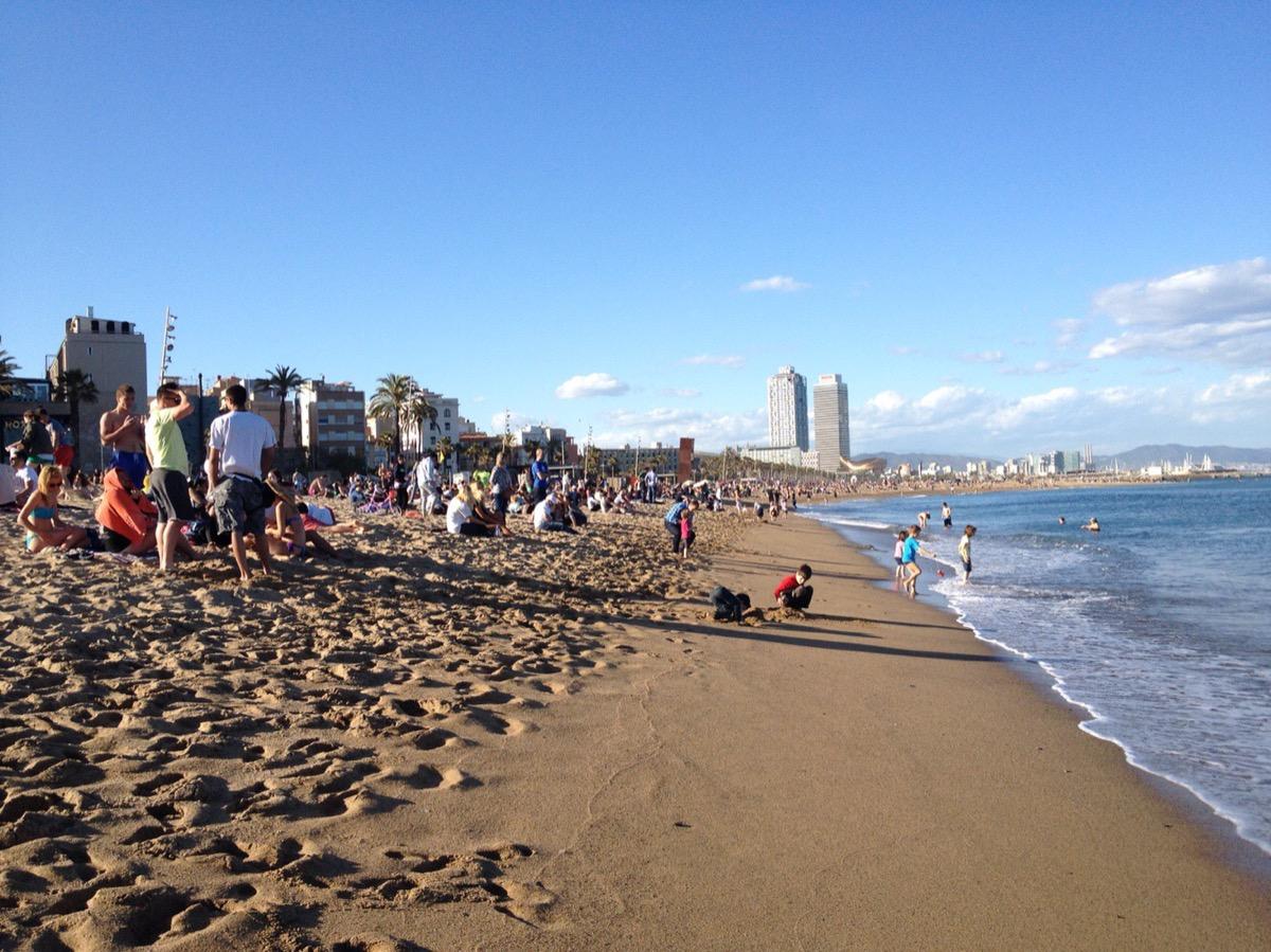 スペイン-バルセロナの海