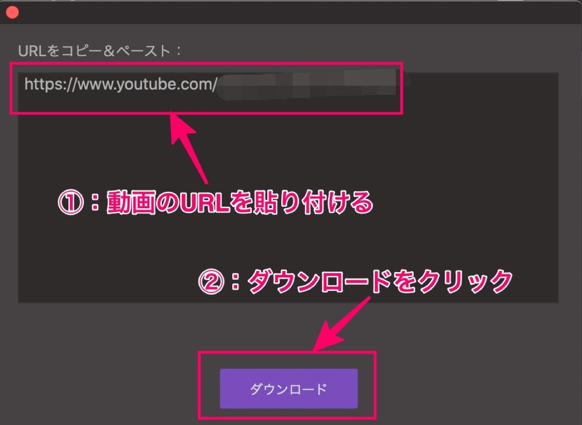動画URLコピペ