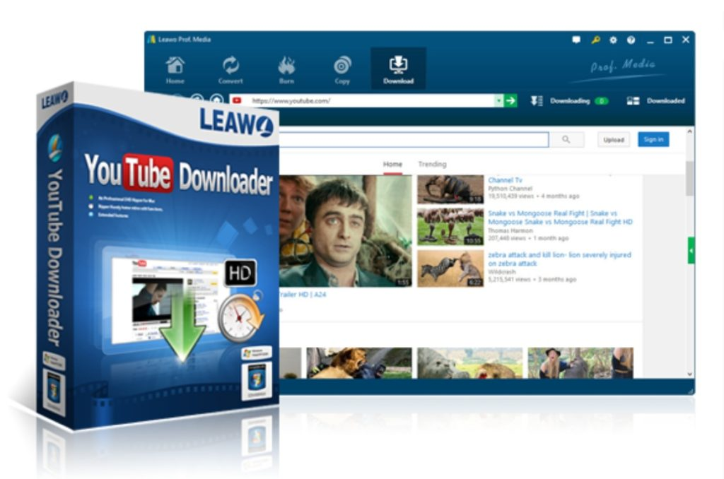 Leawo-YouTube-ダウンロード